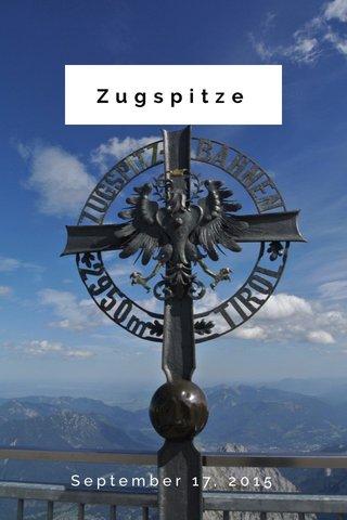 Zugspitze September 17, 2015
