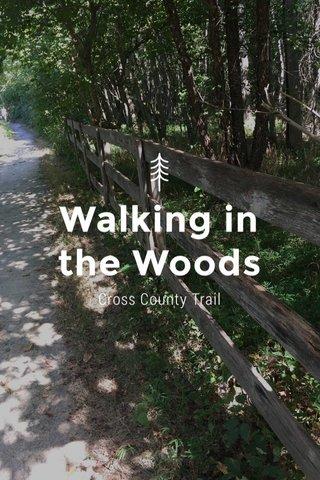 Walking in the Woods Cross County Trail