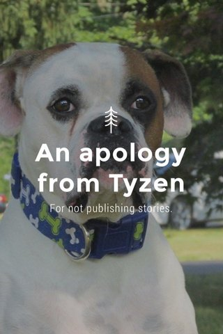 An apology from Tyzen For not publishing stories.