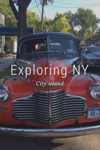 Exploring NY City island