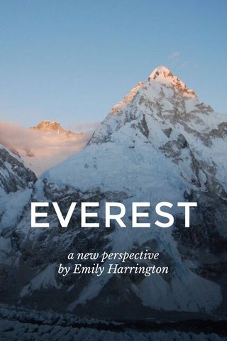 EVEREST a new perspective by Emily Harrington