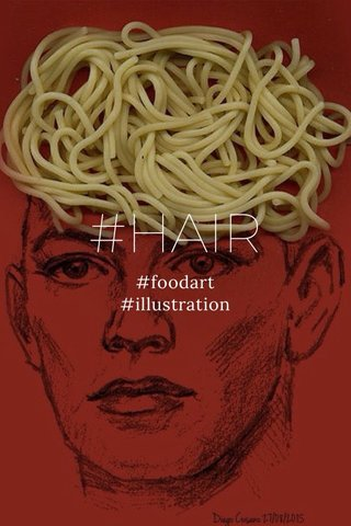 #HAIR #foodart #illustration