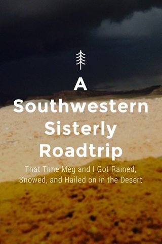 A SouthwesternSisterly Roadtrip That Time Meg and I Got Rained, Snowed, and Hailed on in the Desert