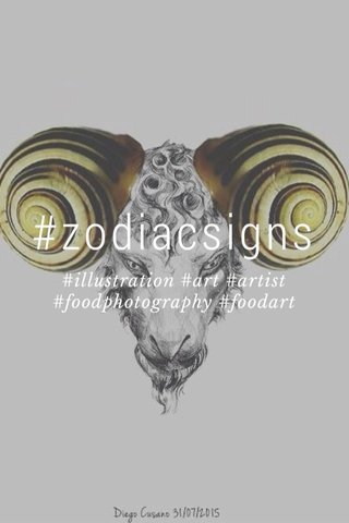 #zodiacsigns #illustration #art #artist #foodphotography #foodart