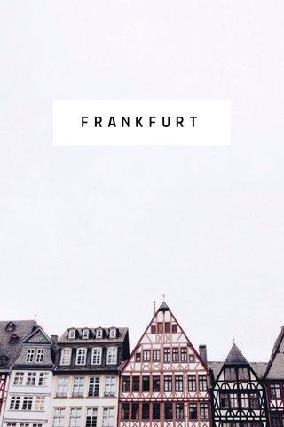 FRANKFURT #stellerlocal