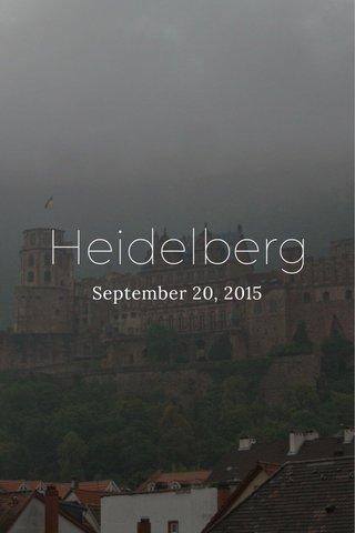 Heidelberg September 20, 2015