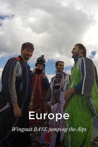 Europe Wingsuit BASE jumping the Alps