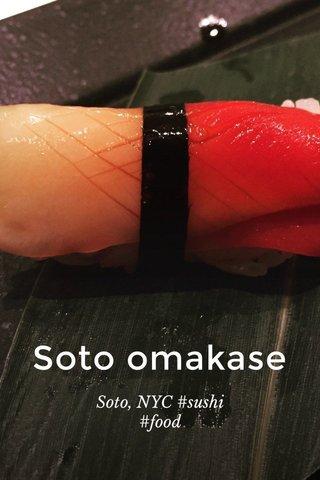 Soto omakase Soto, NYC #sushi #food