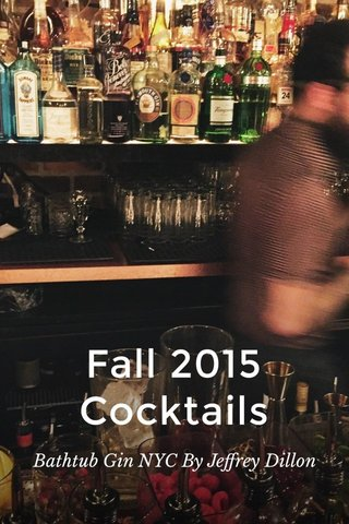 Fall 2015 Cocktails Bathtub Gin NYC By Jeffrey Dillon