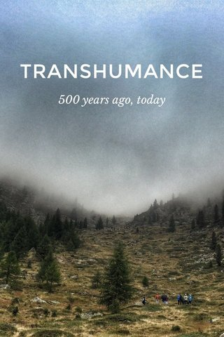 TRANSHUMANCE 500 years ago, today
