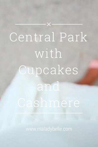 Central Park with Cupcakes and Cashmere www.maladybelle.com