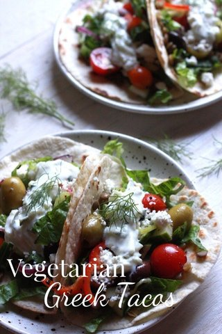 Greek Tacos Vegetarian