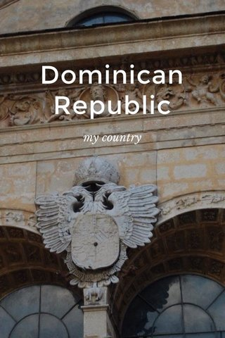 Dominican Republic my country