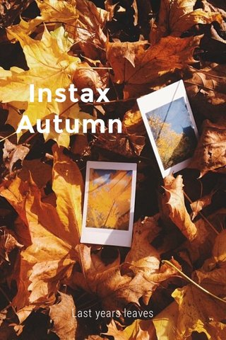 Instax Autumn Last years leaves