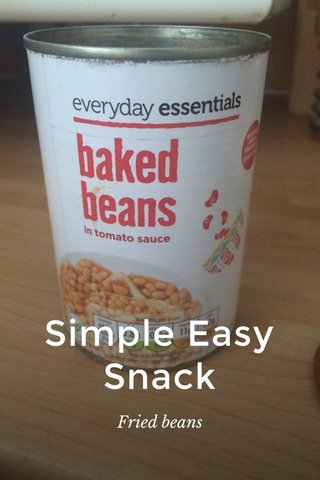 Simple Easy Snack Fried beans