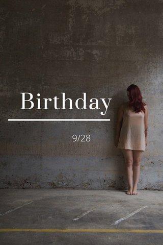 Birthday 9/28