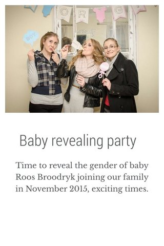 Baby revealing party