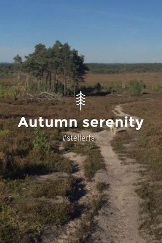 Autumn serenity #stellerfall