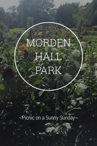 MORDEN HALL PARK ~Picnic on a Sunny Sunday~