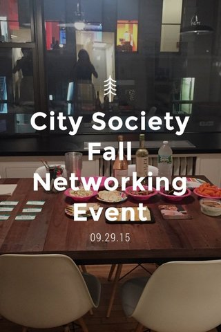 City Society Fall Networking Event 09.29.15