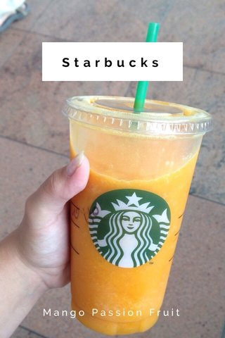 Starbucks Mango Passion Fruit