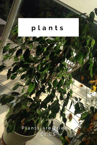 plants Plants are friends Ct:CS