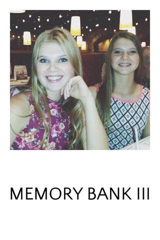 MEMORY BANK III