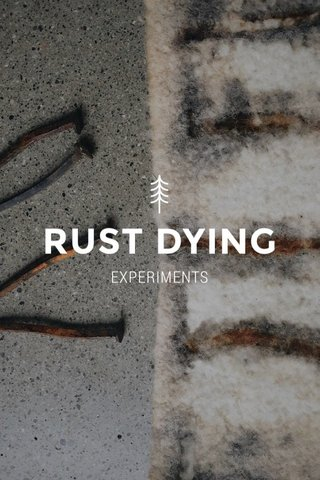 RUST DYING EXPERIMENTS
