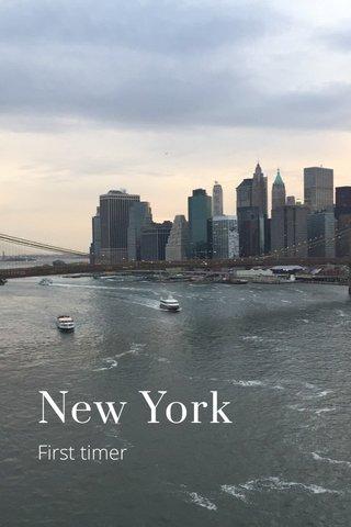 New York First timer