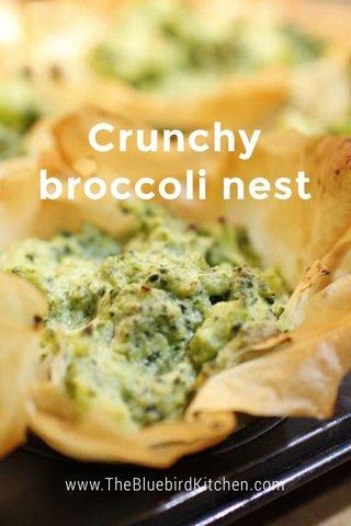 Crunchy broccoli nest www.TheBluebirdKitchen.com
