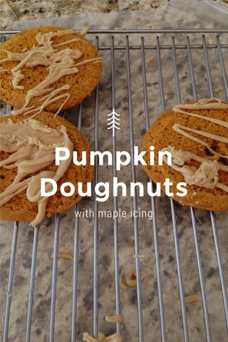 Pumpkin Doughnuts with maple icing