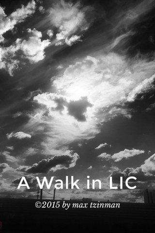 A Walk in LIC ©2015 by max tzinman
