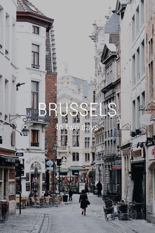 BRUSSELS In two days