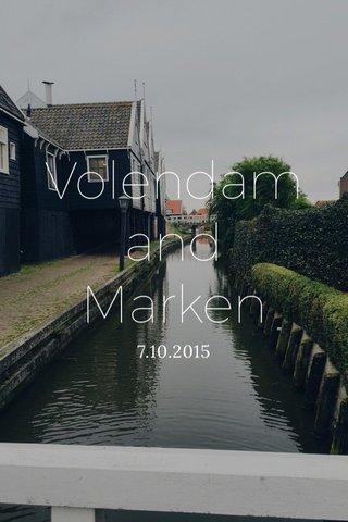 Volendam and Marken 7.10.2015