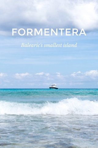 FORMENTERA Balearic's smallest island