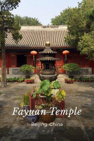 Fayuan Temple Beijing, China
