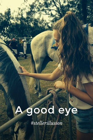 A good eye #stellerillusion