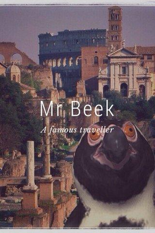 Mr Beek A famous traveller