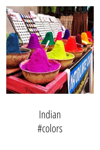Indian #colors