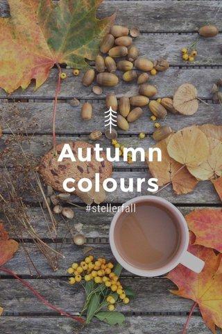 Autumn colours #stellerfall
