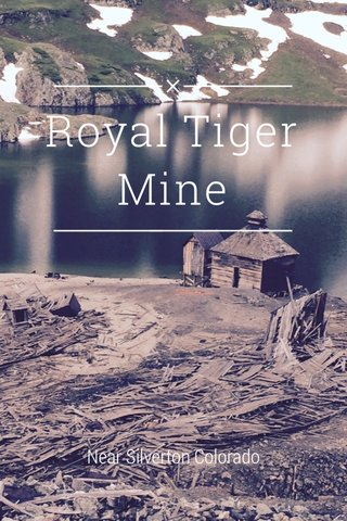 Royal Tiger Mine Near Silverton Colorado