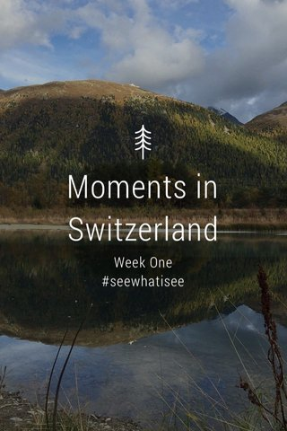 Moments in Switzerland Week One #seewhatisee
