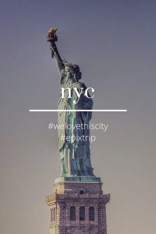 nyc #welovethiscity #epixtrip