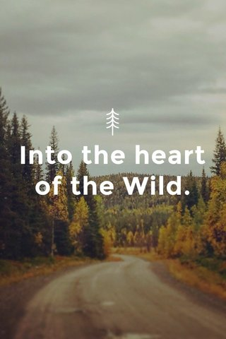 Into the heart of the Wild.