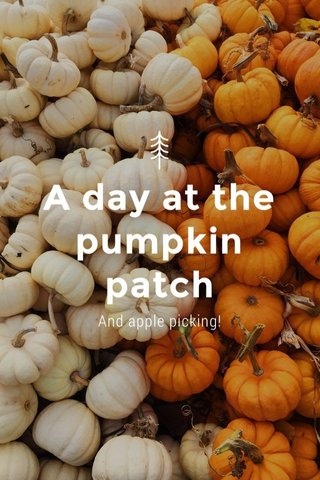 A day at the pumpkin patch And apple picking!