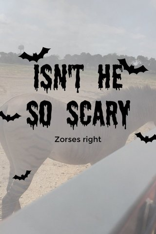 Isn't he so scary Zorses right