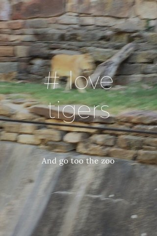 # love tigers And go too the zoo