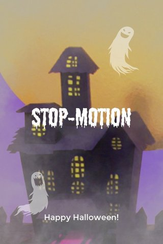 Stop-motion Happy Halloween!