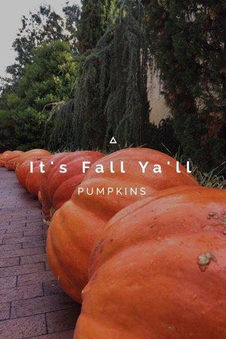 It's Fall Ya'll PUMPKINS