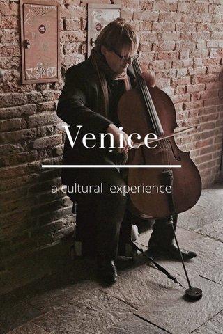 Venice a cultural experience